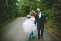 Bride in Blue Boots