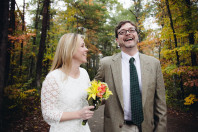 Fall Outdoor Wedding Ceremony in Kentucky